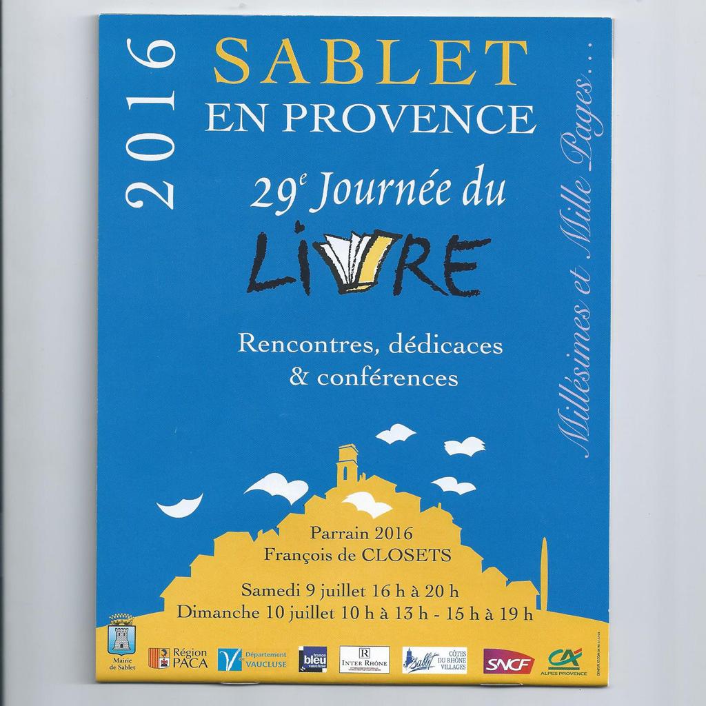 Festival du livre sablet juillet 2016 isabelle ranchet coaching nutrition bien tre - Salon du livre mouans sartoux ...